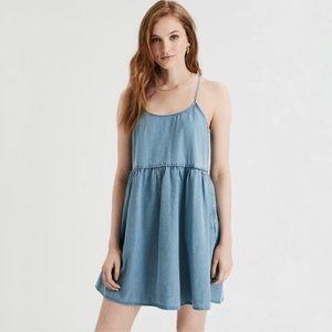 American Eagle Women's Denim Strappy Dress
